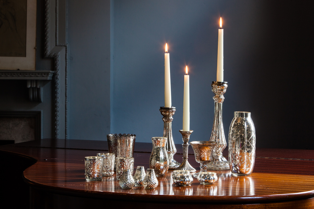G_mercury_glass_antique_silver_wedding_assorted_collection_event_table_centrepiece (3)