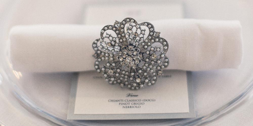 KK_silver_napkin_ring_hire_pearl_diamante_wedding