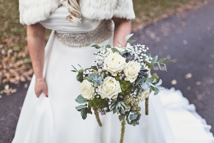 black_white_wedding_classic_glamorous_green_ivory_flowers_hampton_manor-33
